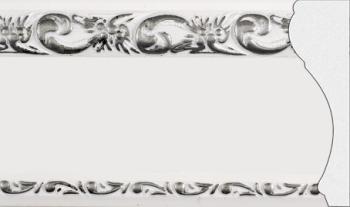 Карниз потолочный в сборе с поворотами с багетной планкой (профиль 01-02)