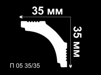 Уголок потолочный внутренний П05 35/35