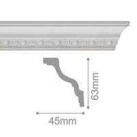 Плинтус потолочный С 101/80, 2м