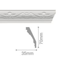 Плинтус потолочный С 102/80, 2м