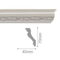 Плинтус потолочный С 108/80, 2м