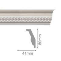 Плинтус потолочный С 110/90, 2м