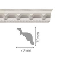 Плинтус потолочный С 117/100, 2м
