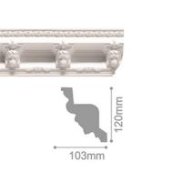 Плинтус потолочный С 124/150, 2м
