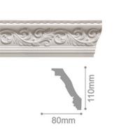 Плинтус потолочный С 128/130, 2м