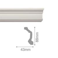 Плинтус потолочный С 163/98, 2м