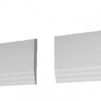 Плинтус потолочный П 12 120/12 (позволяет регулировать размер)