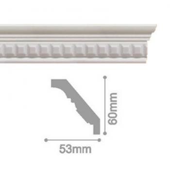 Плинтус потолочный С 109/80, 2м