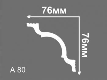 Плинтус потолочный Лайт А 80
