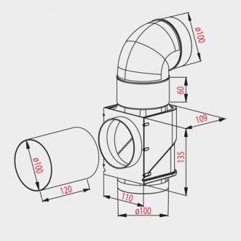 AWENTIS ECONOMY AW-100 (для кухонных вытяжек) (d 100)