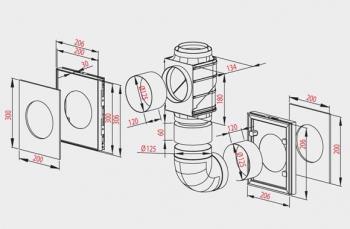 AWENTIS II A (для не прерывной вентиляции двух помещений) (d 125)