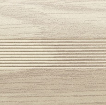 Стык алюминиевый универсальный Русский профиль, 28 мм Груша белая