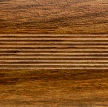 Стык алюминиевый универсальный Русский профиль, 28 мм Дуб медовый