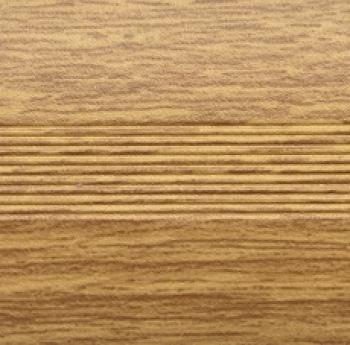 Стык алюминиевый универсальный Русский профиль, 28 мм Дуб светлый
