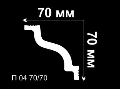 Уголок потолочный внутренний П04 70/70