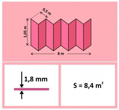 Подложка-гармошка 1,8мм Перфорированная для теплых полов