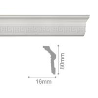 Плинтус потолочный С 169/80, 2м