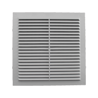 Решетка вентиляционная клеевая с москитной сеткой 194/194 (люкс)