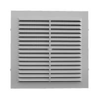 Решетка вентиляционная клеевая с москитной сеткой 155/155 (люкс)