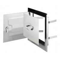 DMW 81 Дверца двойная метал, белая (14*14) для дымоход.