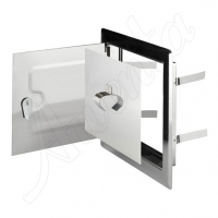 DMNW 50 Дверца двойная нерж. сталь (14*14) для дымоход.