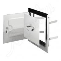 DMW 79 Дверца двойная метал, белая (15*25) для дымоход.
