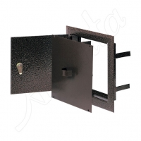 DMW 81 AN Дверца двойная метал, антик. (14*14) для дымоход.